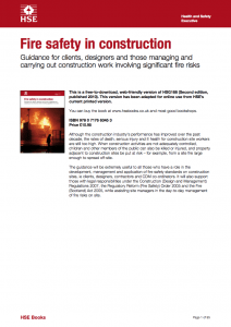 Fire Safety in Construction (HSE)