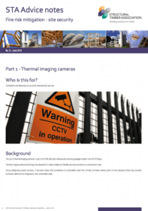 Site Security Thermal Imaging Cameras (STA Advice Note 8.1)