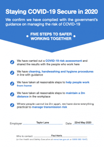 Certificate: Staying COVID-19 Secure in 2020